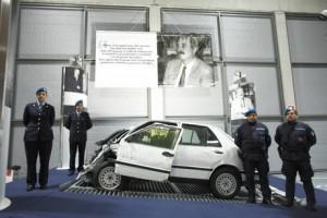 A Rimini in mostra l'auto di Falcone contro l'indifferenza.